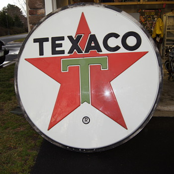6' Hard Plastic Texaco Sign - Petroliana