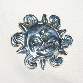 Sterling Silver Brooch/Pendant – Made in Mexico