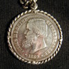BRAZILIAN EMPIRE 1869 STERLING SILVER COIN/PENDANT