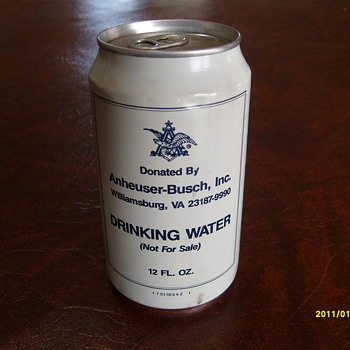 Budweiser Water Can - Breweriana