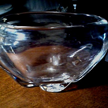 """Whitefriars Crystal"" England /Clear Lobed 8"" Vase Pattern # 9250 /Designed By James Hogan/Circa 1940-46 Produced thru 1959"