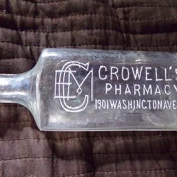 Crowell's Pharmacy, New York  - Bottles