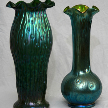 Kralik-Loetz Comparison: Sea Urchin & Rusticanna - Art Glass