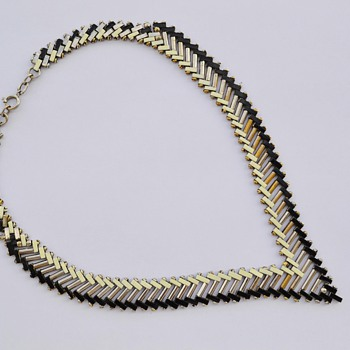 Art Deco 1930's Jakob Bengel Brickwork Necklace - Art Deco