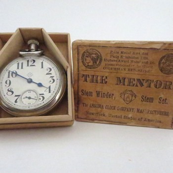 Ansonia Pocket Watch in Wooden Box Part 2