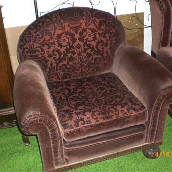 Parents 1920`s sleeper sofa & two chair set - Furniture