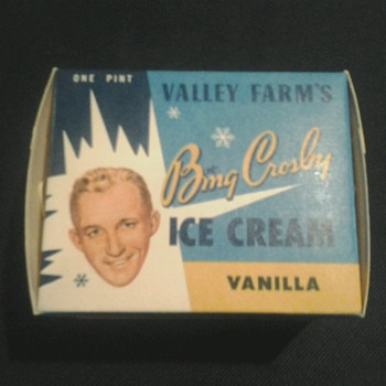 Bing Crosby Ice Cream Container