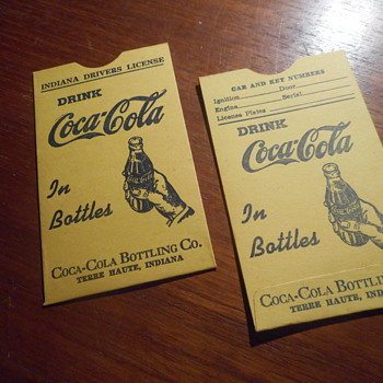 Coca-Cola Drivers License Holders from the 50s. - Coca-Cola