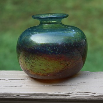 Isle of Wight Glass Vase - Art Glass
