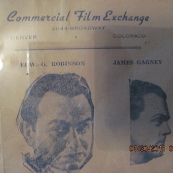 Old framed envelope with pictures - Movies