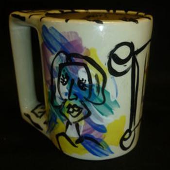 Pablo Picasso Art Signed Mug / Pottery