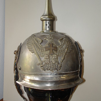 Prussian Pickelhaube of Jaeger zu Pferd officer - Military and Wartime