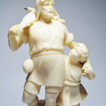 WILHELM TELL - IVORY STATUE /DATES 1860-1899