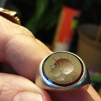 silver insignia ring