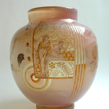 a very rare vase by VALLERYSTHAL - Art Nouveau