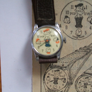 1948 Pop-Eye Watches ATT. geo26e - Wristwatches