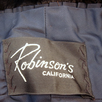 Robinson's of California Mink Fur Stole