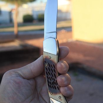 U.S.A.-Made 'SHARP 900' LOCKBACK FOLDING KNIFE
