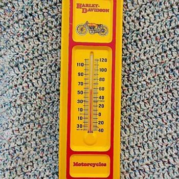 Vintage Harley Davidson Thermometer
