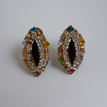 Sparkle Earrings, Circa 1970