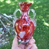 Cased Glass Spatter Ruckl Art Glass Trophy Vase