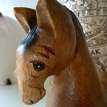 Shandy, My Carved Turkish Horse - Folk Art