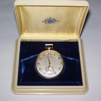 Vintage Hamilton Mens Pocket Watch with original case
