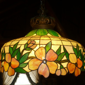 stained glass chandlier