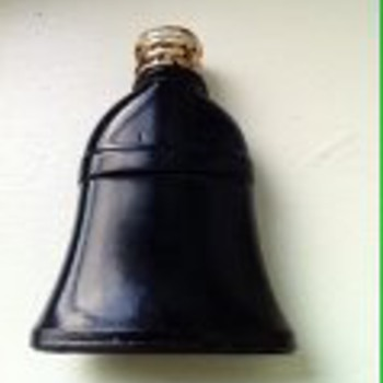 mini black bell shaped perfume bottle