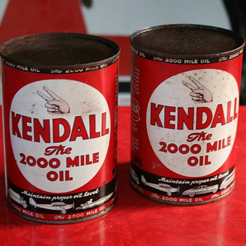 kendall oil can - Petroliana