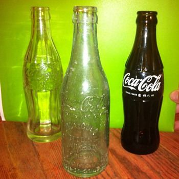 3 unusual Coca Cola Bottles .. Need answers please
