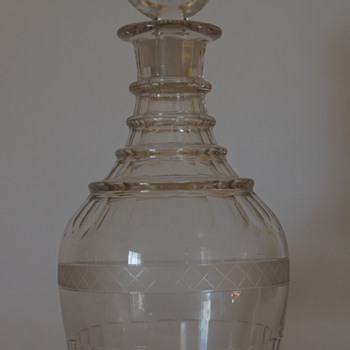 Irish decanter circa 1820.