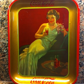 """Coca Cola """"hostess girl"""" tray - Coca-Cola"""