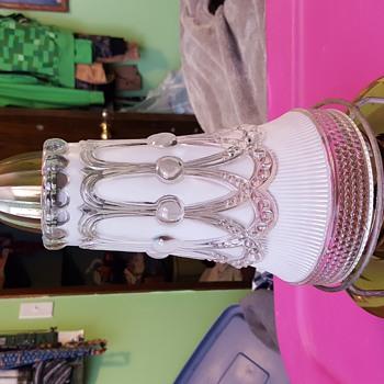 Beautiful brass and glass hanging lantern  - Lamps