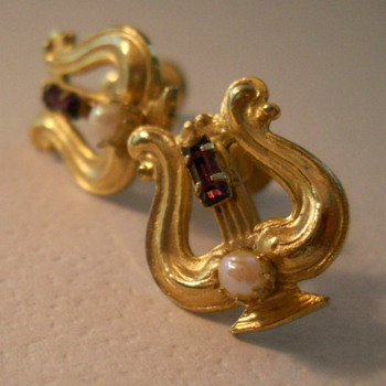 Lyre Earrings - Costume Jewelry