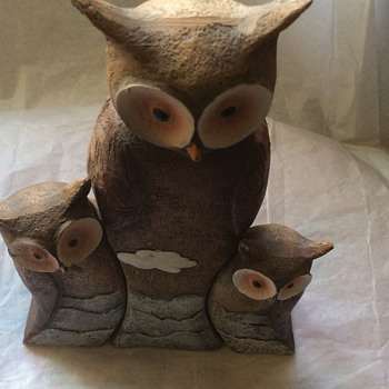 Vintage Set of owls