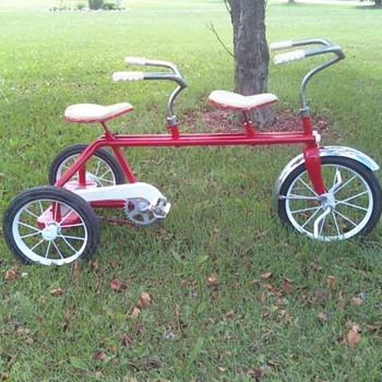 Kids trike built for two