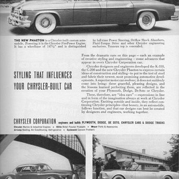 1952 - Chrysler Advertisement - Advertising
