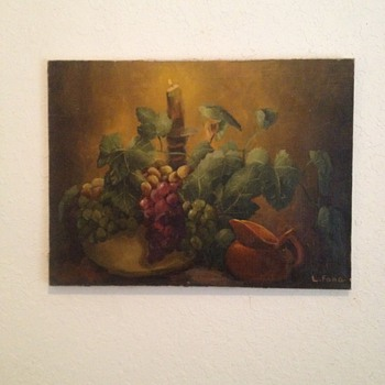 Still Life Oil On Canvass - Visual Art