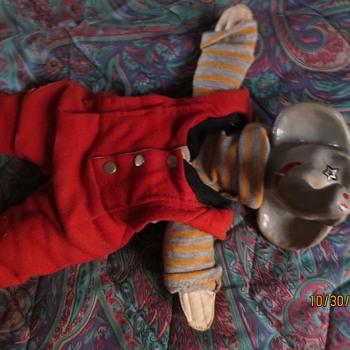 Elephante  handmade puppet - Toys