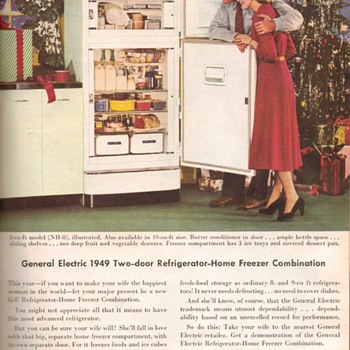 1948 - General Electric Refrigerator Advertisement - Advertising
