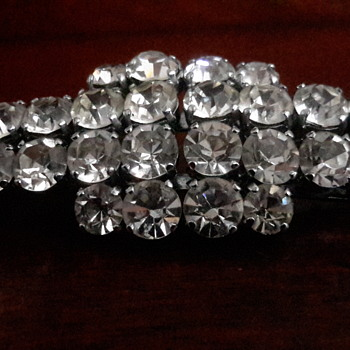 Deco diamente clip on earrings or brooch