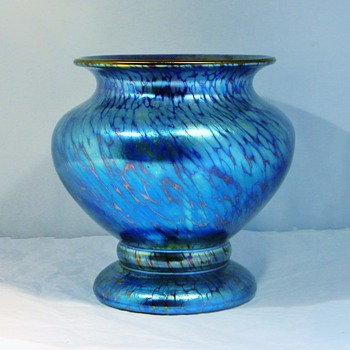 Art Deco Loetz Cobalt Papillon Vase