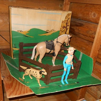Marx Johnny West Josie West Gift Set Sears 1968