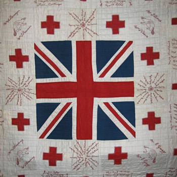 WWI Red Cross Signature Quilt from Norfolk County Ontario - Folk Art