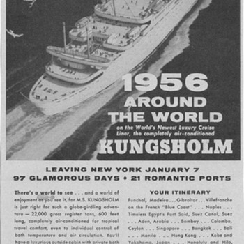 1955 Swedish American Line Advertisement - Advertising