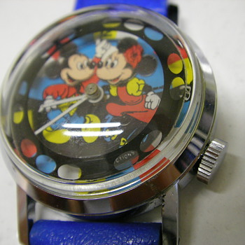 Circa 1980 Mickey & Minnie (double animation) Wristwatch