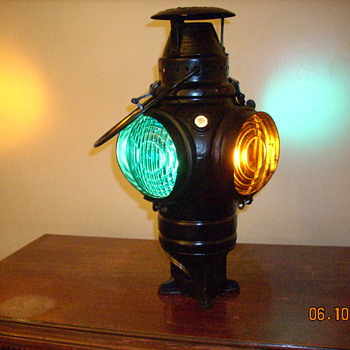 Adlake Railroad switch stand lamp from the Bangor and Aroostook Railroad - Railroadiana