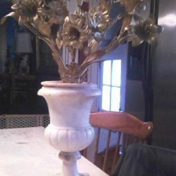19th C Marble/Gilt Bronze Candelabra