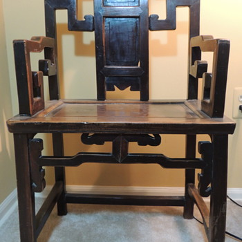 Chinese Chair - Qing Dynasty  - Furniture
